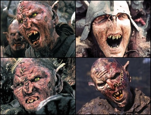 more faces of orcs